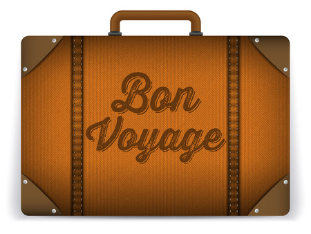 Vector - Brown Luggage Bag Illustration 일러스트