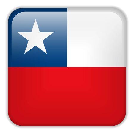 bandera de chile: Vector - Bandera Smartphone Chile Square Aplicación Botones