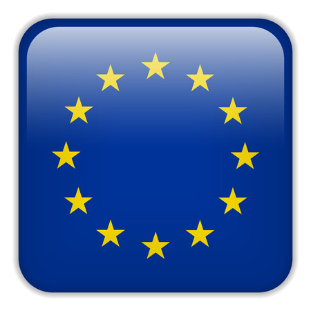 Vector - Europe Flag Smartphone Application Square Buttons