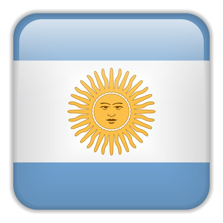 square buttons: Vector - Argentina Flag Smartphone Application Square Buttons