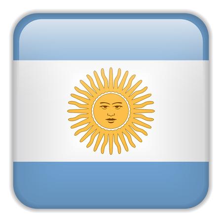 bandera argentina: Vector - Bandera Smartphone Argentina Square Aplicaci�n Botones