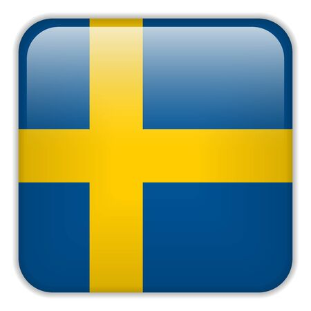 square buttons: Vector - Sweden Flag Smartphone Application Square Buttons