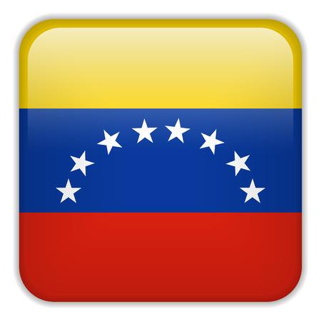 bandera de venezuela: Vector - Bandera Smartphone Venezuela Square Aplicación Botones