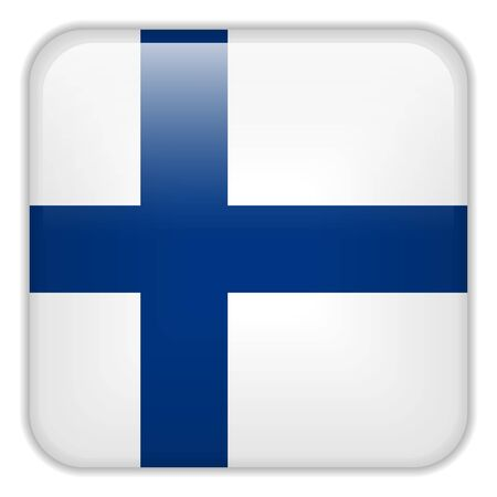 finland flag: Vector - Finland Flag Smartphone Application Square Buttons Illustration