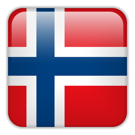 square buttons: Vector - Norway Flag Smartphone Application Square Buttons
