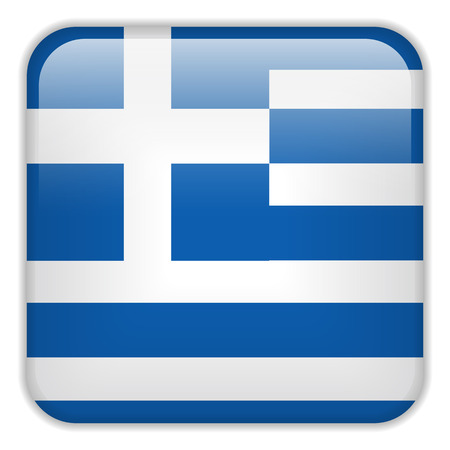 greece flag: Vector - Greece Flag Smartphone Application Square Buttons