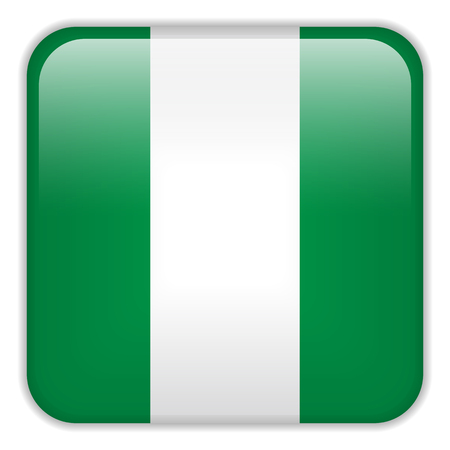 square buttons: Vector - Nigeria Flag Smartphone Application Square Buttons Illustration
