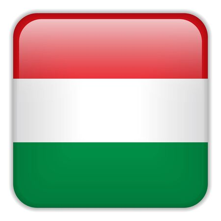 square buttons: Vector - Hungary Flag Smartphone Application Square Buttons Illustration