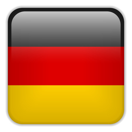 square buttons: Vector - Germany Flag Smartphone Application Square Buttons