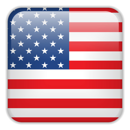shiny buttons: Vector - USA Flag Smartphone Application Square Buttons