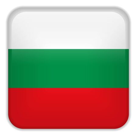 square buttons: Vector - Bulgaria Flag Smartphone Application Square Buttons