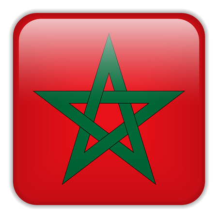 square buttons: Vector - Morocco Flag Smartphone Application Square Buttons Illustration