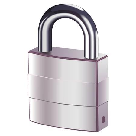 blocked: padlock Illustration