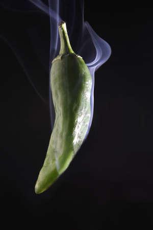 Smoking Green Chilli photo