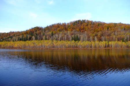 Heilongjiang Yichun Tangwanghe forest forest reservoir Banco de Imagens
