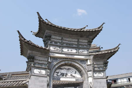Ancient chinese gateway