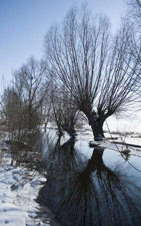 Willow River in winter photo