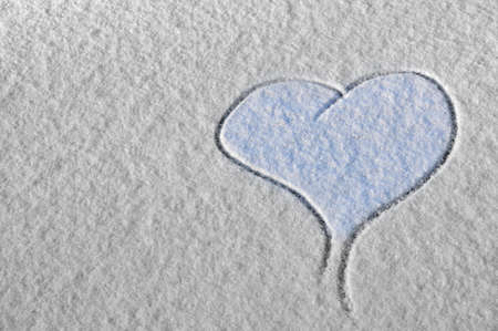 Heart on Snow photo