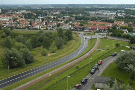 roundabout: city roundabout Stock Photo