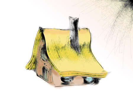 thatched: drawing an old cottage