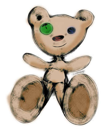 Drawing teddy bear photo