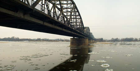 Winer river and bridge photo