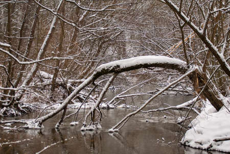 winter river photo