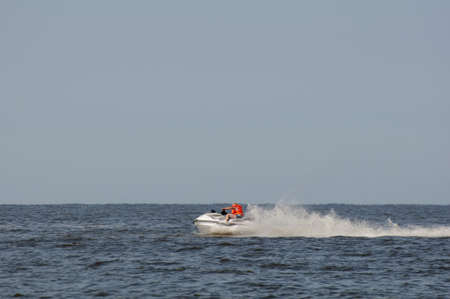 Baltic sea Jet ski Stock Photo - 20855380