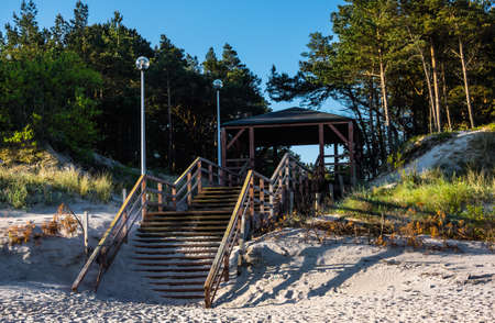 Baltic sea - exit to the beach photo