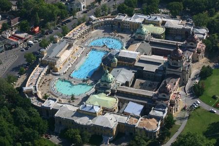 Széchenyi spa in Budapest, Hungary Фото со стока