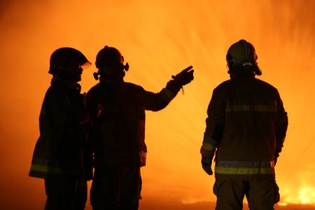 hotness: Firefighting training Stock Photo
