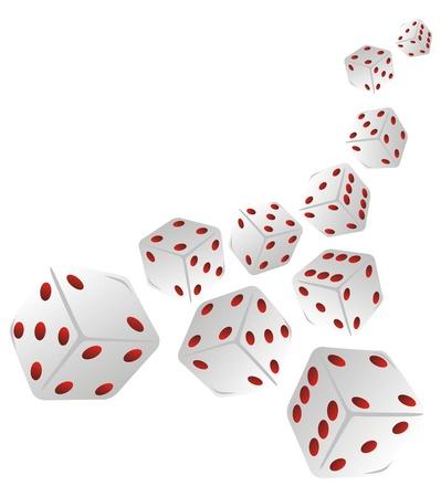 doodle dice Stock Vector - 15352218