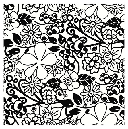 floral art full wallpaper Vector