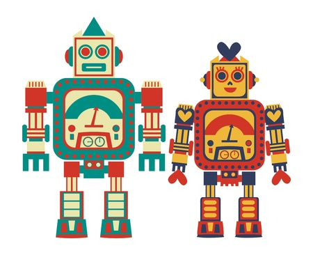 robot couple Vector