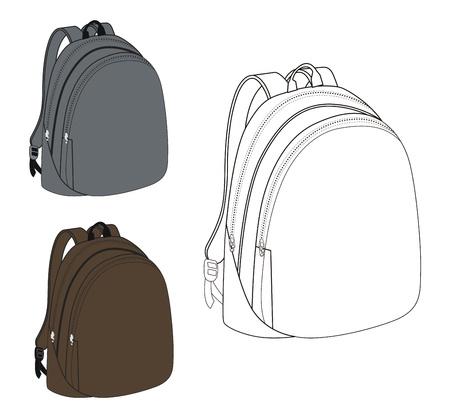 white grey bag Vector