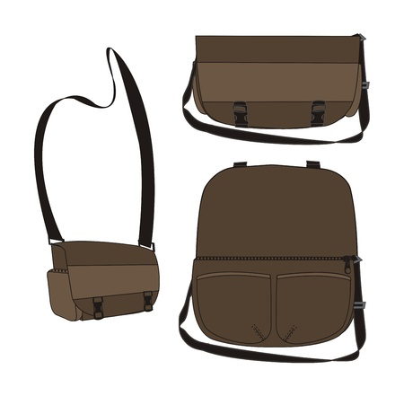 template of bag brown Vector
