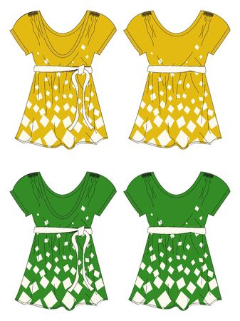 apparel theme yellow Illustration