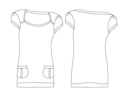 apparel set art shoulder Vector