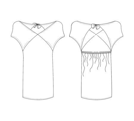 apparel set art white