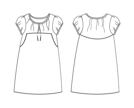 apparel set art girl Illustration
