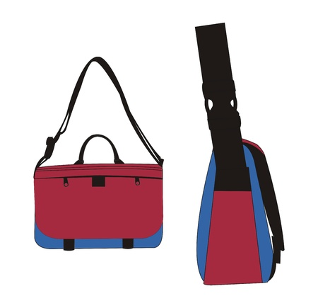bag template red