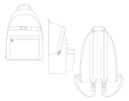 bag template line Vector