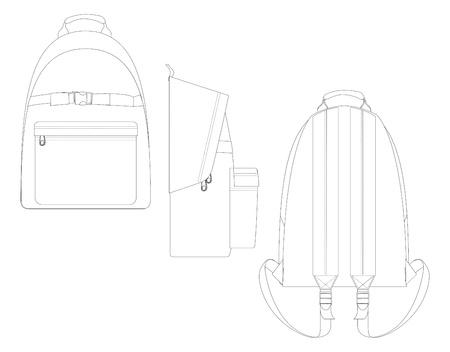 bag template line