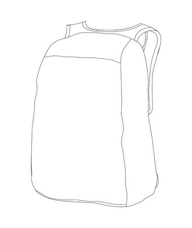 bag template coat Illustration