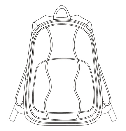 bag template back Vector