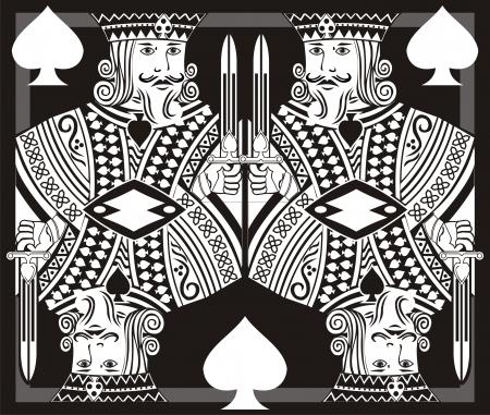 kartenspiel: K�nig poker art Illustration