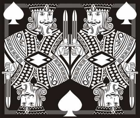 deck of cards: king poker art