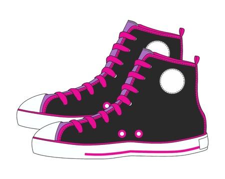 foot gear: shoe canvas art