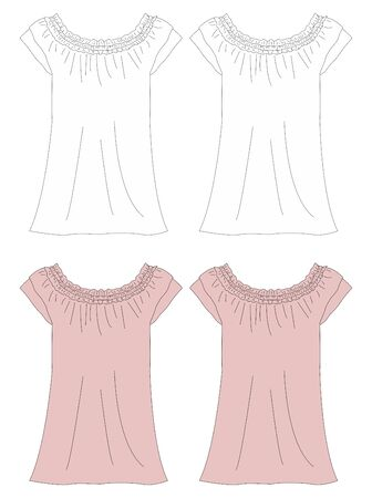 apparel dress pink Vector