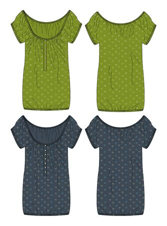 apparel dress green Vector